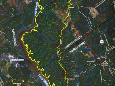 Map of the Location of Liberty Hill WMA