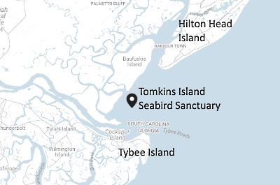 Location Map of Tomkins Island Seabird Sanctuary